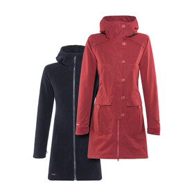 Bergans W's Bjerke 3in1 Coat Outer:Burgundy/Inner:Dark Navy